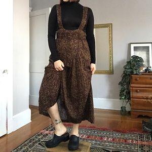 VINTAGE paisley jumper midi dress